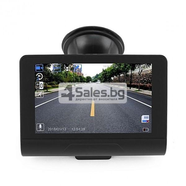 Компактен FULL HD видеорегистратор с голям 4 инчов дисплей и две камери AC50B 3