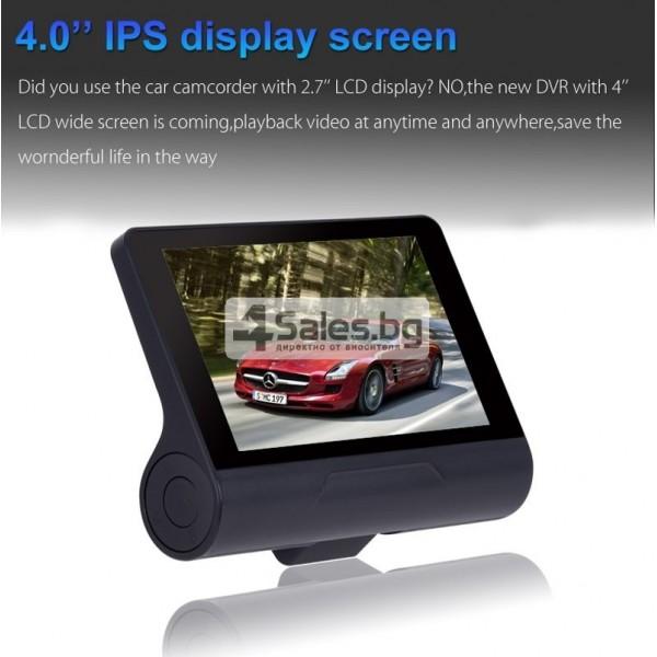 Компактен FULL HD видеорегистратор с голям 4 инчов дисплей и две камери AC50B 12