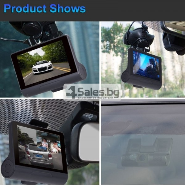 Компактен FULL HD видеорегистратор с голям 4 инчов дисплей и две камери AC50B 16