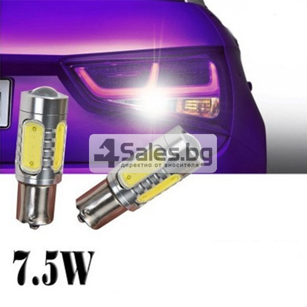 Два броя LED крушки 7,5 W за автомобил CAR LED6 1157 2