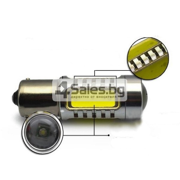 Два броя LED крушки 7,5 W за автомобил CAR LED6 1157 3