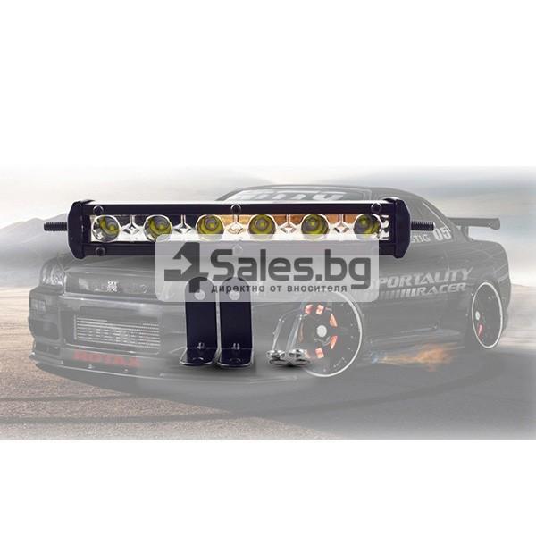 Външен прожектор със шест LED крушки за автомобили и мотоциклети 90 W LED BAR3 2