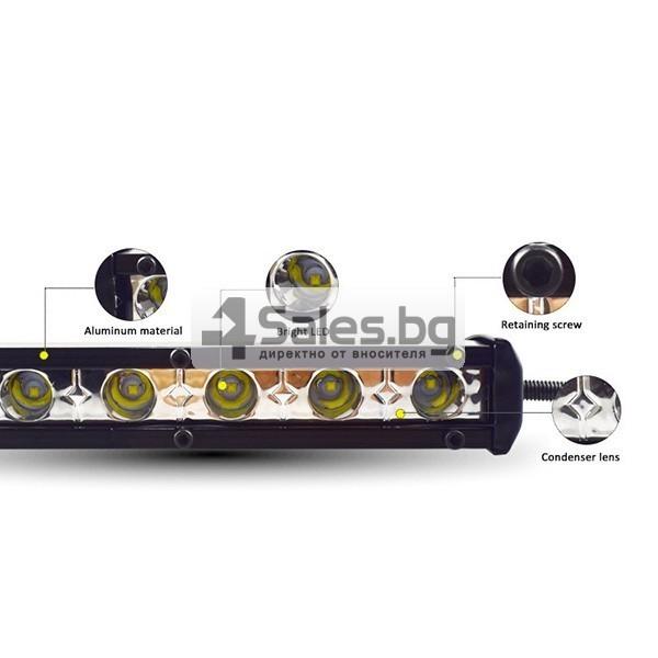 Външен прожектор със шест LED крушки за автомобили и мотоциклети 90 W LED BAR3 3
