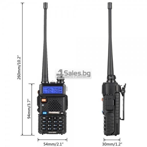 Компактно уоки-токи Baofeng, радиостанция с водо и удароустойчивост BF-UV5R 16