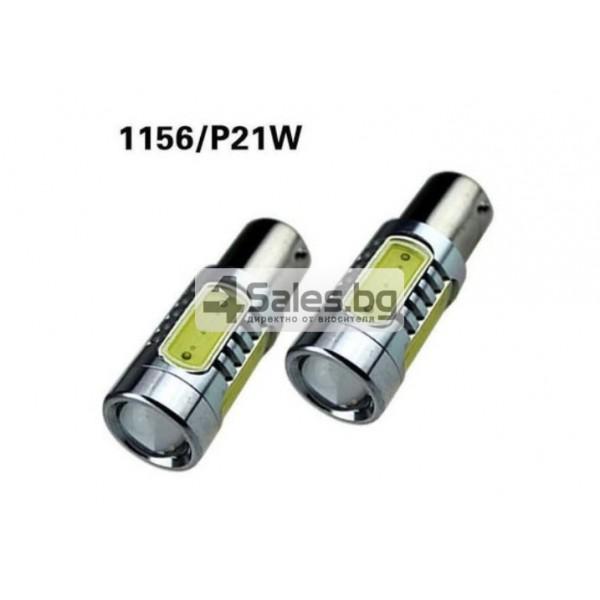 Крушки за фарове за задна светлина на автомобила 7,5W 1156 CAR LED5 1