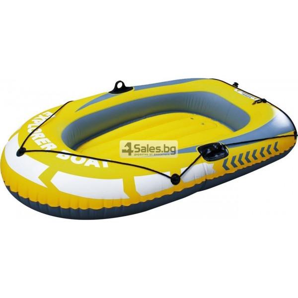 Едноместна надуваема каучукова лодка с PVC защита, помпа и гребла BOAT 5 1