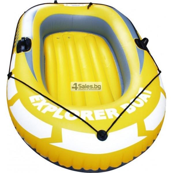 Едноместна надуваема каучукова лодка с PVC защита, помпа и гребла BOAT 5 2