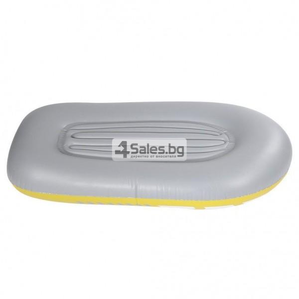 Едноместна надуваема каучукова лодка с PVC защита, помпа и гребла BOAT 5 4
