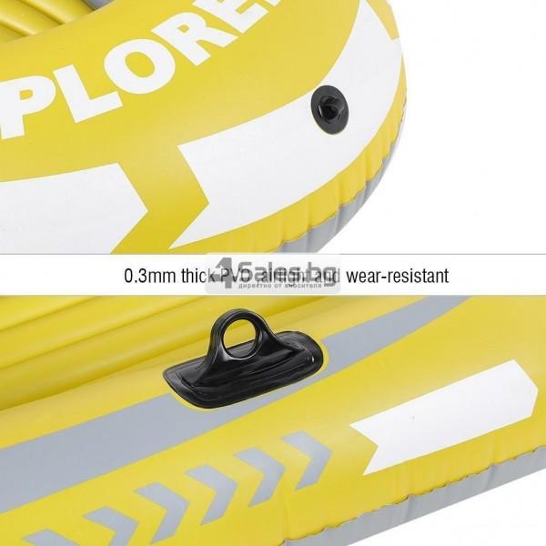 Едноместна надуваема каучукова лодка с PVC защита, помпа и гребла BOAT 5 6