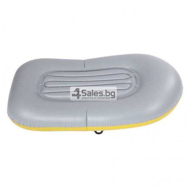 Едноместна надуваема каучукова лодка с PVC защита, помпа и гребла BOAT 5 8