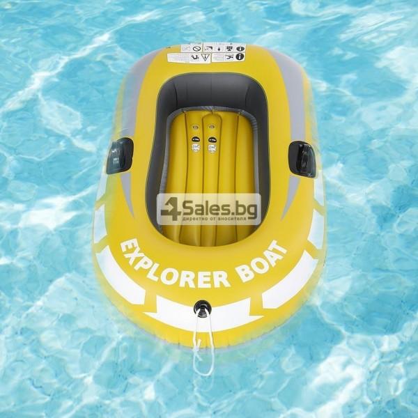 Едноместна надуваема каучукова лодка с PVC защита, помпа и гребла BOAT 5 9