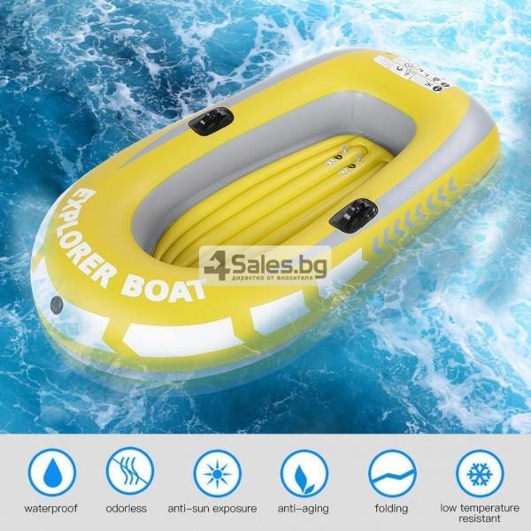 Едноместна надуваема каучукова лодка с PVC защита, помпа и гребла BOAT 5 13