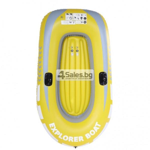 Едноместна надуваема каучукова лодка с PVC защита, помпа и гребла BOAT 5 15