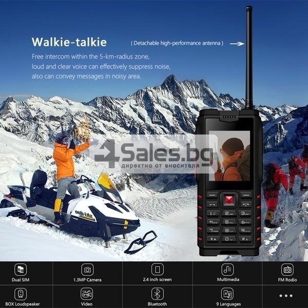 Мобилен телефон и радиостанция в едно със защита от прах, вода и удар iOutdoor T2 1