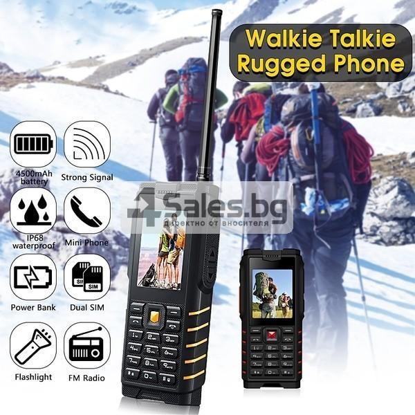 Мобилен телефон и радиостанция в едно със защита от прах, вода и удар iOutdoor T2 4
