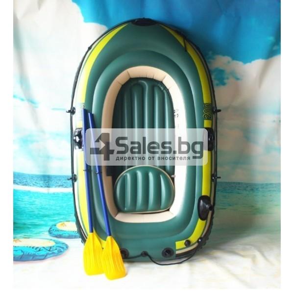Надуваема лодка за двама с помпа и гребла подходяща за риболов и спорт BOAT-7 1