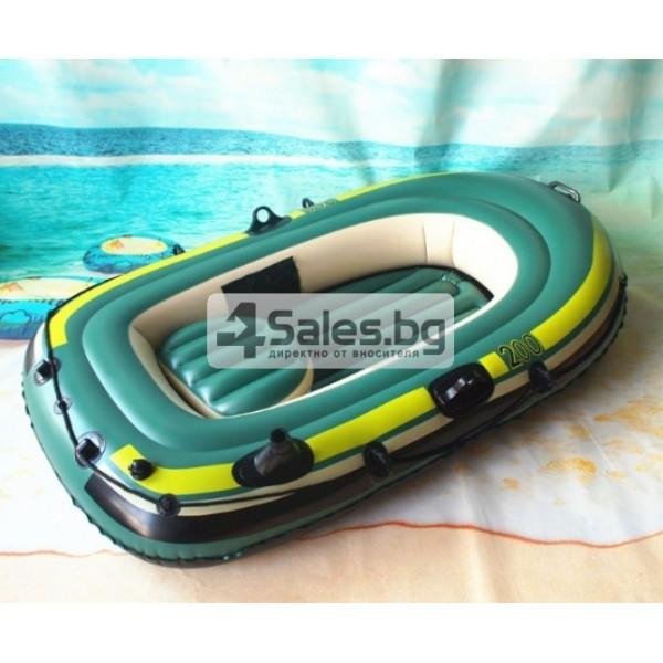 Надуваема лодка за двама с помпа и гребла подходяща за риболов и спорт BOAT-7 4