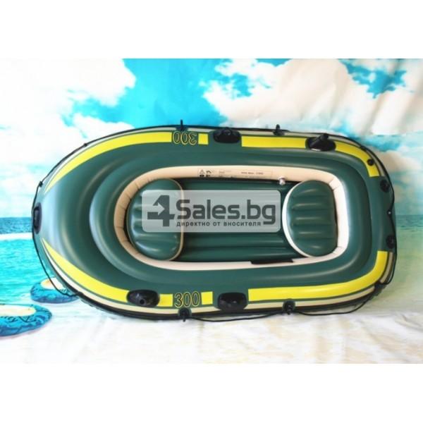 Надуваема PVC лодка с аксесоари подходяща за двама възрастни и дете BOAT-8 2