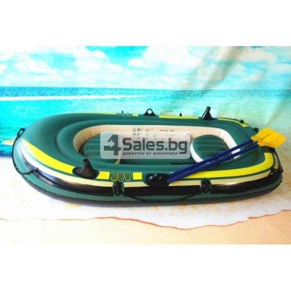 Надуваема PVC лодка с аксесоари подходяща за двама възрастни и дете BOAT-8 3