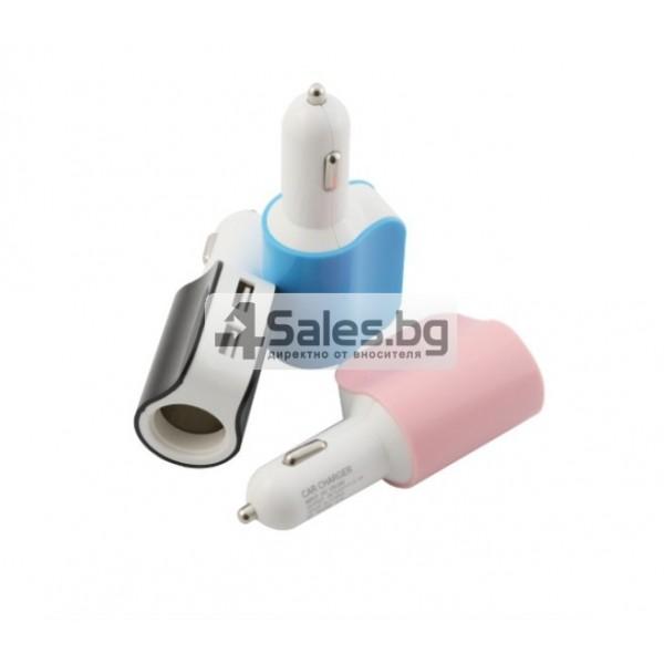 Многофункционално зарядно за кола 3.1 Dual USB CA112