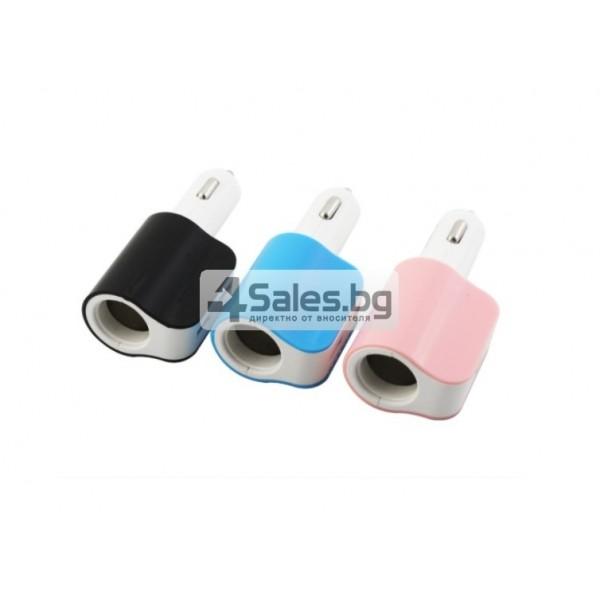 Многофункционално зарядно за кола 3.1 Dual USB CA112 4