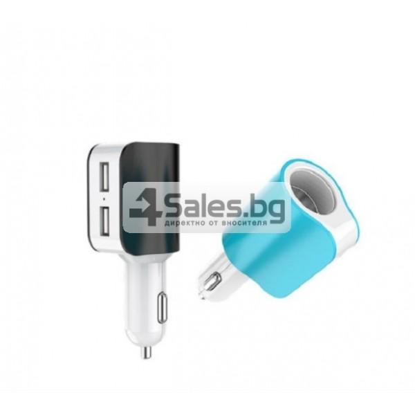 Многофункционално зарядно за кола 3.1 Dual USB CA112 5
