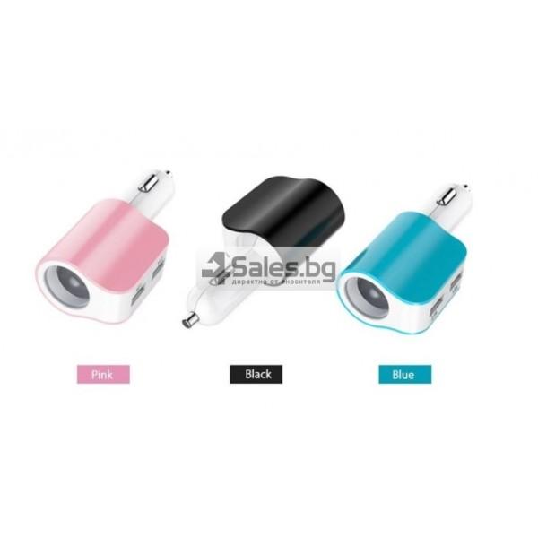Многофункционално зарядно за кола 3.1 Dual USB CA112 6