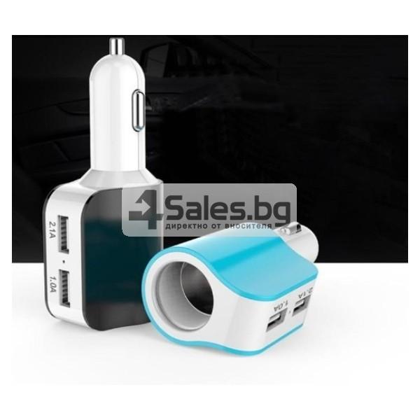 Многофункционално зарядно за кола 3.1 Dual USB CA112 7
