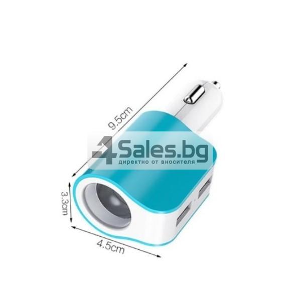 Многофункционално зарядно за кола 3.1 Dual USB CA112 9