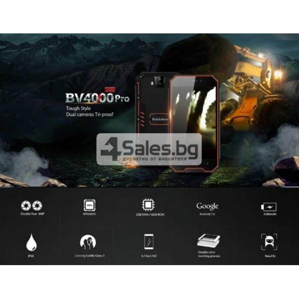 "Blackview BV4000 Pro, водоустойчив смартфон, екран 4.7"", четириядрен, Android 7 1"