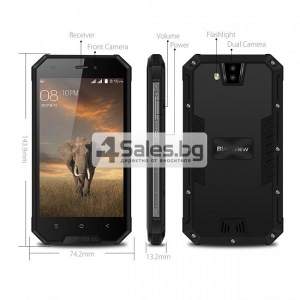 "Blackview BV4000 Pro, водоустойчив смартфон, екран 4.7"", четириядрен, Android 7 8"