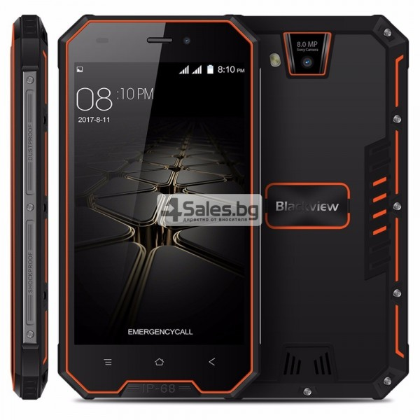 "Blackview BV4000 Pro, водоустойчив смартфон, екран 4.7"", четириядрен, Android 7"