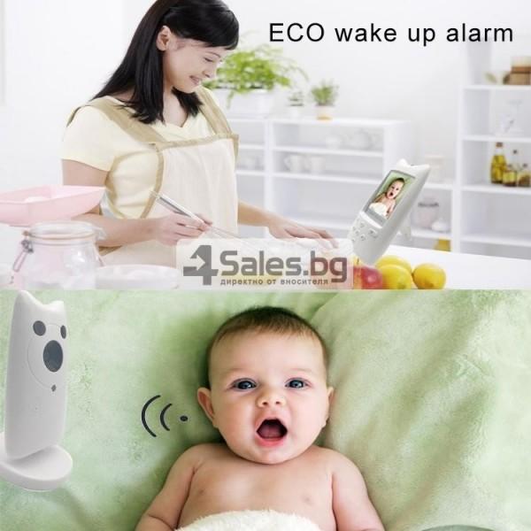 Безжична бебефон система с камера и двупосочно аудио WB801 IP16 12