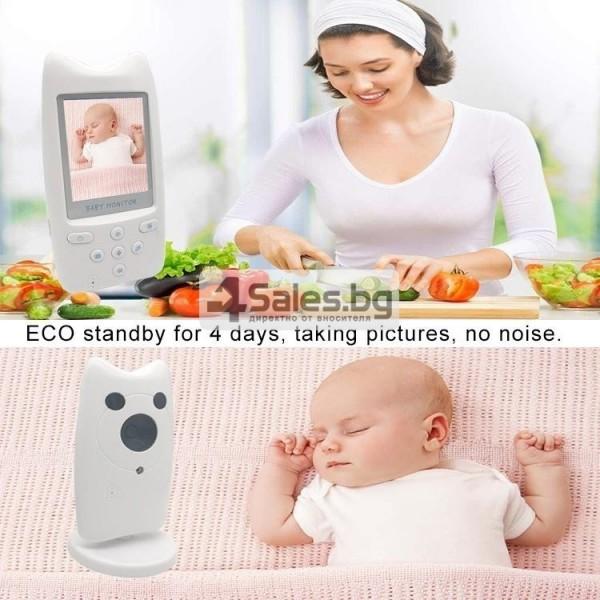 Безжична бебефон система с камера и двупосочно аудио WB801 IP16 13