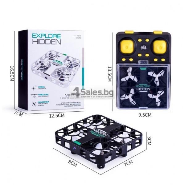 Wi Fi квадрокоптер с управление от смартфон, HD камера, голяма маневреност QS003 5