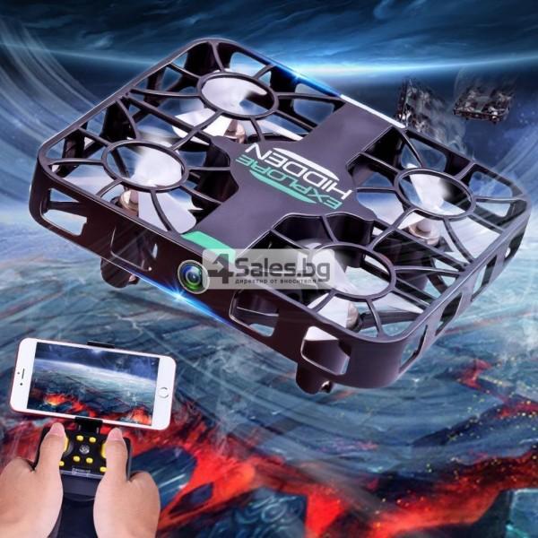 Wi Fi квадрокоптер с управление от смартфон, HD камера, голяма маневреност QS003 11