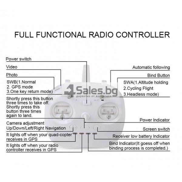 Професионален дрон с GPS, Wi Fi, FULL HD камера (запис в реално време) CG035 18