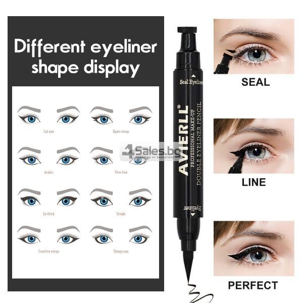 Двойна очна линия-писалка с дълготраен ефект и водоустойчивост HZS110 12