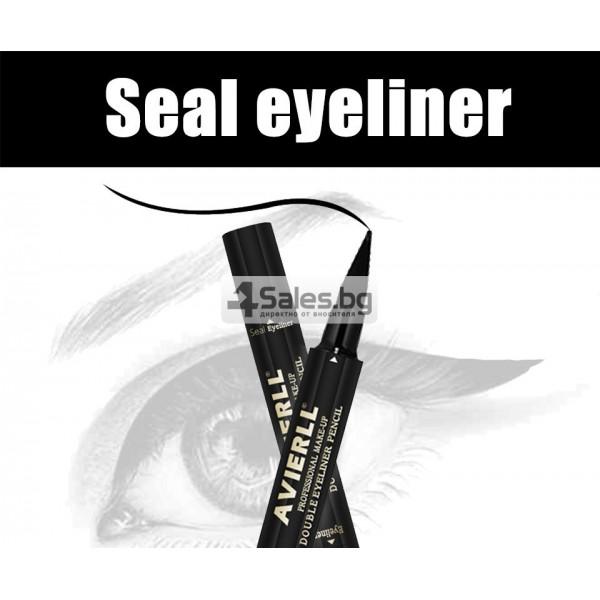 Двойна очна линия-писалка с дълготраен ефект и водоустойчивост HZS110 14