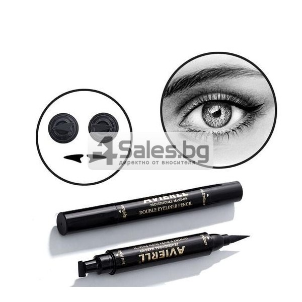 Двойна очна линия-писалка с дълготраен ефект и водоустойчивост HZS110 17