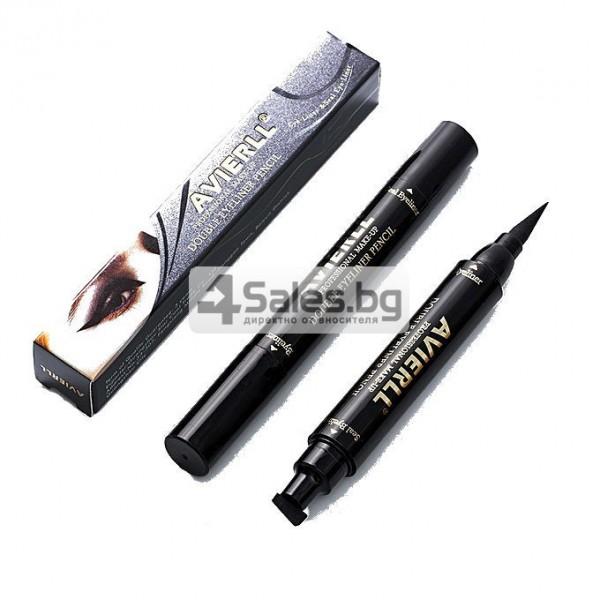 Двойна очна линия-писалка с дълготраен ефект и водоустойчивост HZS110