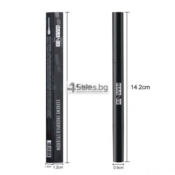 Водоустойчив автоматичен молив за вежди с четка за вежди MAANGE HZS117 6
