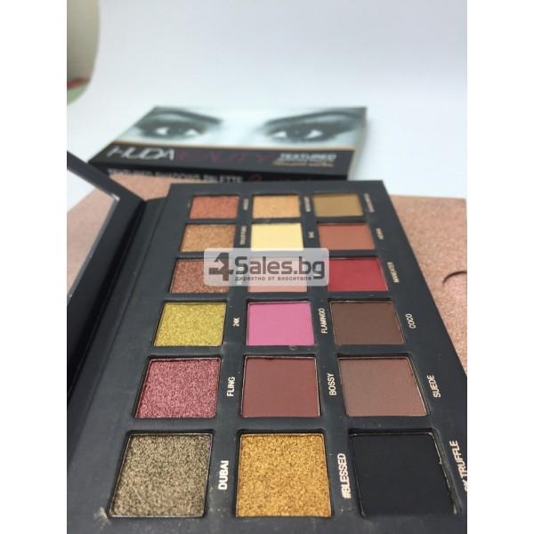 Комплект от 18 цвята сенки за очи в удобна палитра HUDA BEAUTY HZS115 3