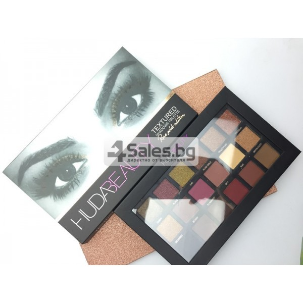 Комплект от 18 цвята сенки за очи в удобна палитра HUDA BEAUTY HZS115 6
