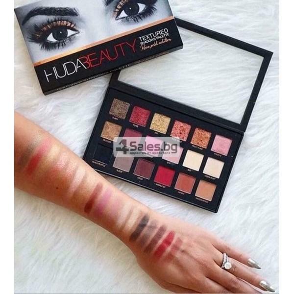 Комплект от 18 цвята сенки за очи в удобна палитра HUDA BEAUTY HZS115 13