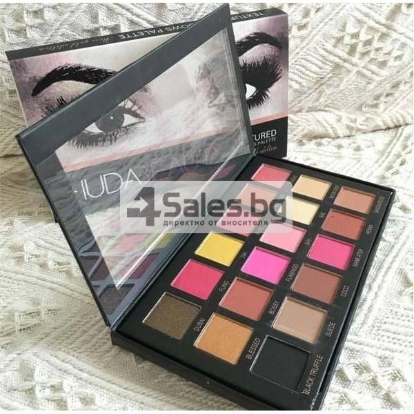 Комплект от 18 цвята сенки за очи в удобна палитра HUDA BEAUTY HZS115 16