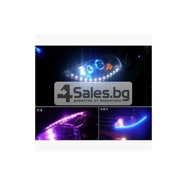 Водоустойчива LED декоративна лента за автомобил 45 см CAR DIS LED2 4