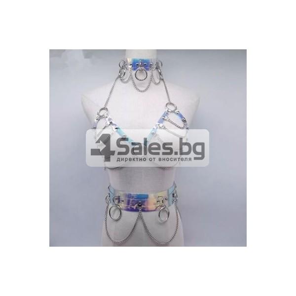 Декоративен ориенталски костюм с метални халки STL-8-D