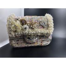 Шикозна малка дамска чантичка с перли и разноцветни елементи ZSB-S-1