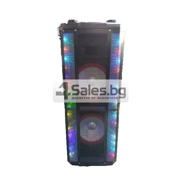Avcrowns HS-TD1070 Парти спийкър с Bluetooth безжичен микрофон - 2X10 инча 5